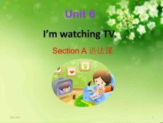 Unit 6 I?m watching TV整单元课件U-6-语法