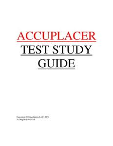 accuplacer test study guide - Central New Mexico Community College