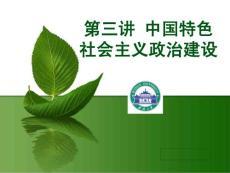 2013年第三讲中国特色社会主义政治建设