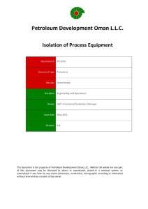 PR-1076 - Isolation of Process Equipment Procedure - PDO