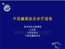 [临床医学]中国癫痫临床诊疗指南