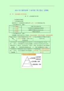 2014年中級經濟師考試 工商管理 預習筆記 完整版