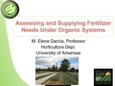 Organic Fertilizers - Organic Horticulture Training for the Southeast:有机肥料-东南有机园艺培训