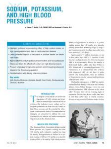 SODIUM, POTASSIUM, AND HIGH BLOOD PRESSURE - ACSM:钠,钾,和血压高的压力会