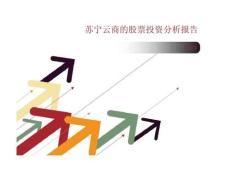 苏宁云商的股票投资分析报告
