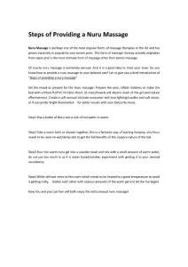 how to provide nurumassage