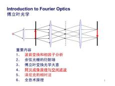 Introduction to Fourier Optics傅立叶光学
