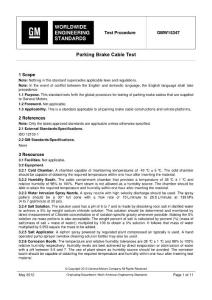 GMW15347-May2012 Parking Brake Cable Test