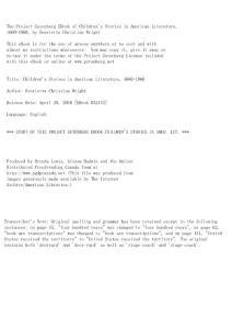 Children´s Stories in American Literature  1660-1860 by Henrietta Christian Wright
