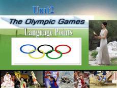 高一英语人教版新课标必修2 Unit 2 The Olympic Games (language points课件)