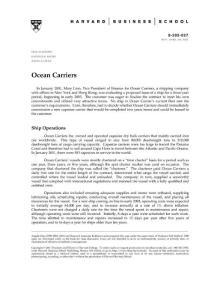 Ocean Carrier Case