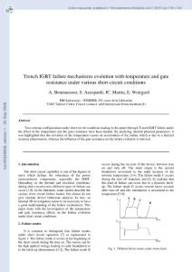 Trench IGBT failure mechanisms evolution with temperature and gate resistance under various short-circuit conditions