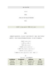 SQL语法基础手册1