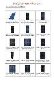 SOLAR SYSTEM PRODUCTS - CARICOM Alternative ...:太阳能产品-加勒比共同体的替代系统...