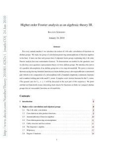 高阶傅里叶分析及其在数论、组合、图论研究中的应用