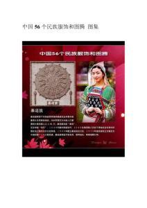 中国56个民族服饰和图腾 图集