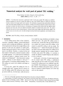 Numerical analysis for weld pool of pulsed TIG welding
