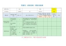 预算员(成本控制)绩效考核表