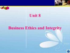 Unit8_Business Ethics and Integrity 商业道德与诚信