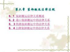 物流法律法规知识 第6章 装卸搬运法律法规