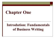 商务英语写作基础