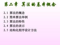 谢丽聪-2算法的基本概念-2007