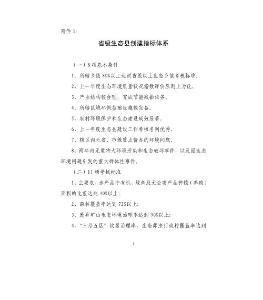 省级生态县创建指标体系