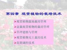 观赏园艺课件--第三章 观赏植物植物栽培管理技术