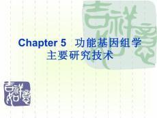 chapter 5 功能基因组学的主要研究技术