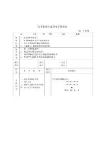 【体育课件】女子篮球主选课