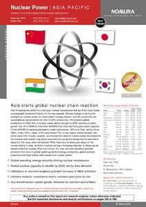 野村证券 2010年亚洲核能行业深度研究报告