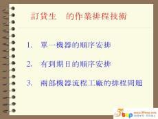 订货生产的作业排程技术(..