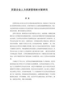论文:民营企业人力资源管理的对策研究.doc〓