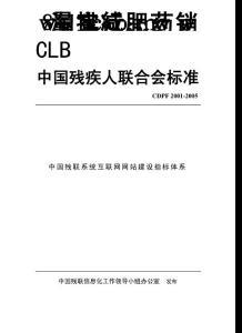中国残疾人联合会标准