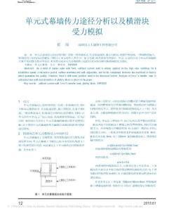 單元式幕墻傳力途徑分析以及橫滑塊受力模擬