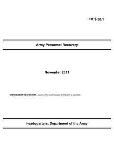 Army Personnel Recovery - Federation Of American ...:军队人员回收联盟的美国...