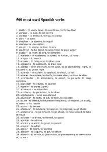 西班牙语500个最常用动词