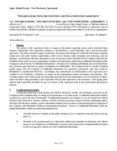 Non-disclosure  Non-circumvention and Non-competition Ag:非公开的 非规避和非竞争的公司