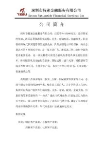 深圳市特速金融服务有限公..