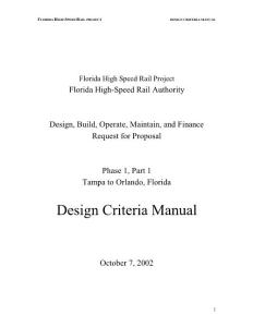 Florida High Speed Rail Project-Design Criteria Manual