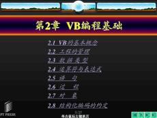 visual basic 6.0程序设计教程 教学课件配套课件 作者:黄静华 王辉 第02章