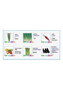 英文单词图文-日常生活中常见蔬菜英文名1