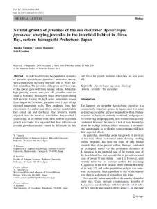 Natural growth of juveni..