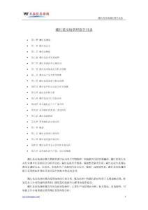藏红花市场调研报告目录