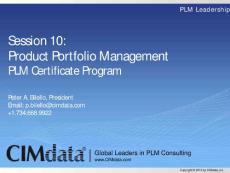 S10 CIMdata PLM Certificate - Product Portfolio Management r1v1