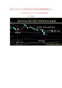 2012年8月31日冯矿伟每天早..