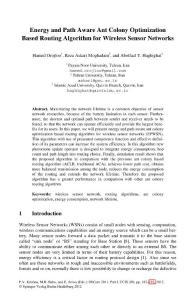 Energy and Path Aware Ant Colony Optimization Based Routing Algorithm for Wireless Sensor Networks