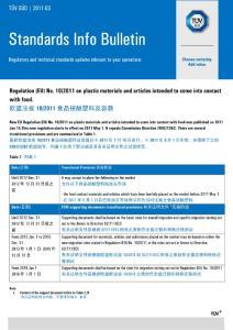 [新版]歐盟律例(eu)10-2011食物接觸塑料及容器解讀