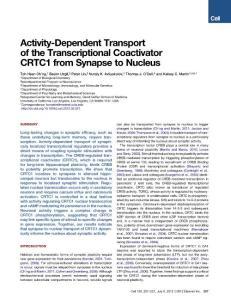 Activity-Dependent Tran..