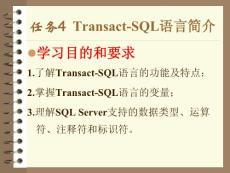 TransactSQL语言简介